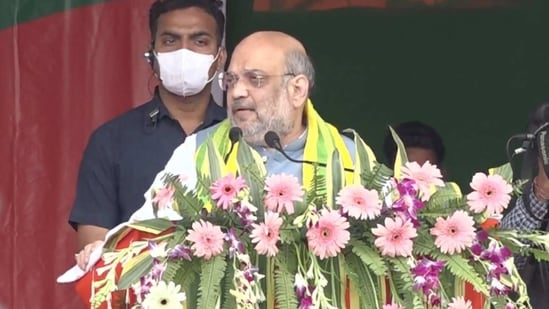 Amit Shah addressed a rally in Assam on Wednesday(BJP Twitter)