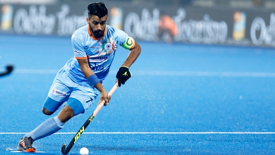 File photo of Indian men's hockey team captain Manpreet Singh.(Twitter)