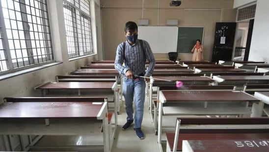 Only around five states have decided to open up schools, and almost all of them will allow only students from senior classes to attend.(Sunil Ghosh/HT Photo)