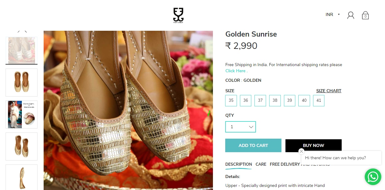 Diana Penty's hand embroidered juttis from Fizzy Goblet(fizzygoblet.com)