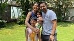 Shilpa Shetty and Raj Kundra with their kids, Viaan and Samisha.