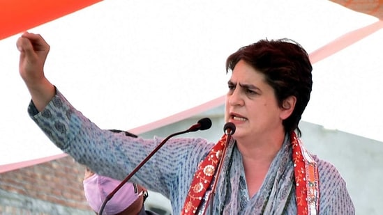 Priyanka Gandhi took a jibe at Union finance minister Nirmala Sitharaman's 'oversight in issuing order' comment(ANI)