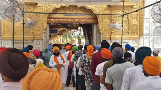 The Golden Temple in Amritsar. On Tuesday, the general House of the SGPC had passed a resolution against the Rashtriya Swayamsevak Sangh (RSS), alleging that it is attempting to establish a 'Hindu Rashtra'. (HT file)