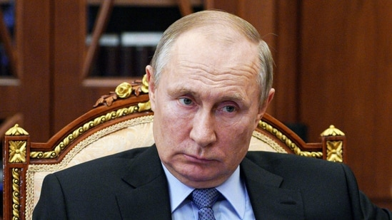 Russian President Vladimir Putin during a meeting in the Kremlin in Moscow.(AP)