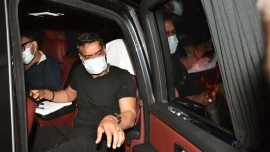Ajay Devgn has been shooting for Maidaan, MayDay and Gangubai Kathiawadi in Mumbai.(Varinder Chawla)