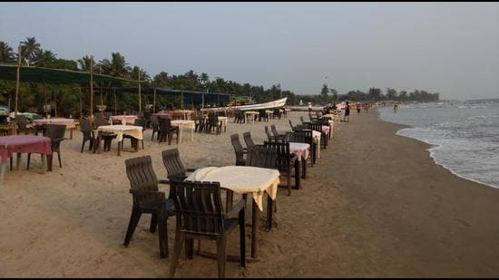 After the nationwide lockdown was imposed late last March, tourists slowly left in relief flights that were arranged by their respective countries, the shacks shuttered and the village emptied out. (HT Photo)