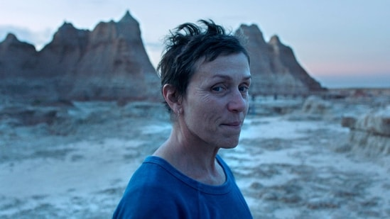 This image released by Searchlight Pictures shows Frances McDormand in a scene from the film Nomadland.(AP)