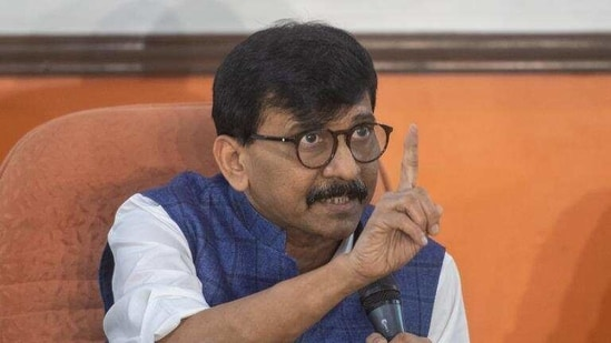 """On being asked about his """"accidental home minister"""" comment against Anil Deshmukh, Raut said, """"Something happening by accident is a phrase. One always sees an opportunity in an accident.""""(HT file photo)"""