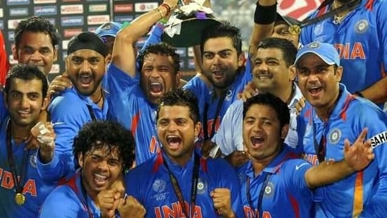 India players celebrate 2011 ODI World Cup win.(File)