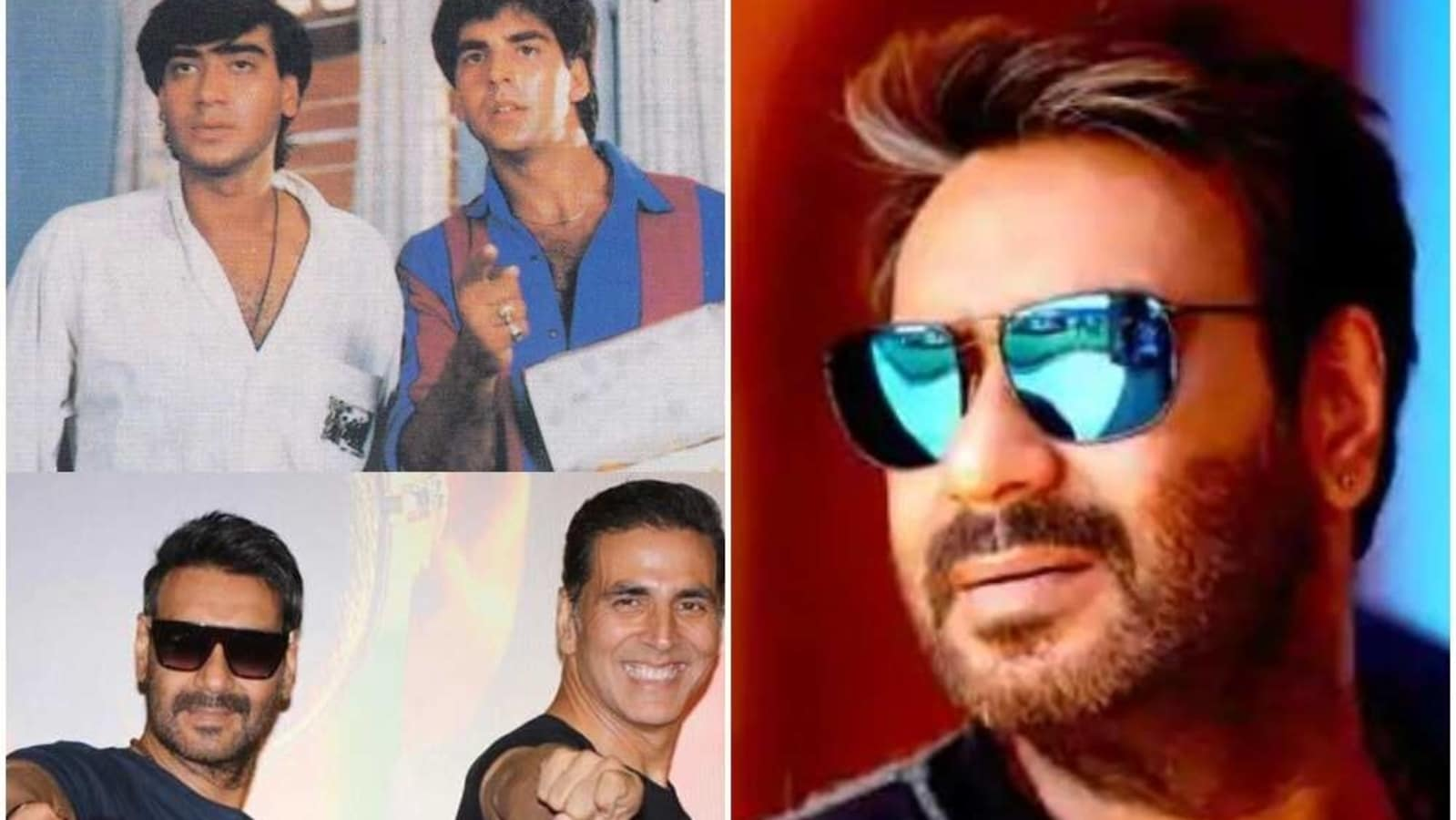 Akshay Kumar posts then-and-now pic to wish Ajay Devgn on his birthday: 'You've been an amazing co-star' - Hindustan Times