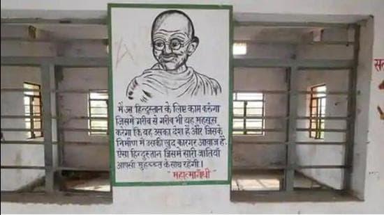 March from historic Vrindavan ashram to mark Gandhi's 1st visit to Bihar