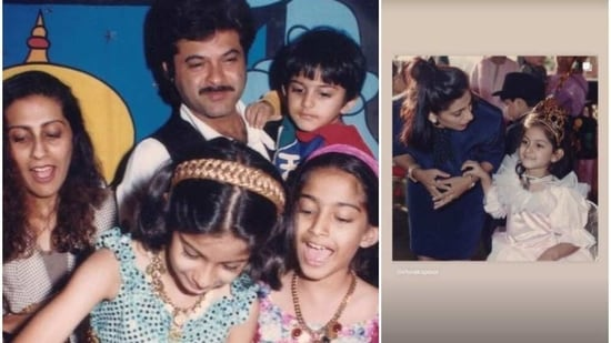 Rhea Kapoor's throwback pictures.