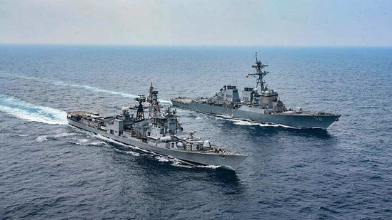 The La Pérouse exercise in the Bay of Bengal will see the French Navy joining the navies of India, Australia, Japan and the US – the four members of the Quadrilateral Security Dialogue or Quad. (PTI)