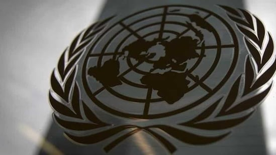 The United Nations headquarters building is pictured though a window with the UN logo in the foreground, in the Manhattan borough of New York.(Reuters File Photo)