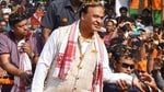 BJP leader Himanta Biswa Sarma during an election campaign rally in Assam.(PTI)