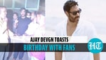 Fans touch Ajay Devgn's feet during birthday celebration, watch actor's reaction