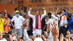 Senior BJP leader and Assam Finance Minister Himanta Biswa Sarma addresses a rally in Katigora in Assam's Cachar district in this file picture from March 27.
