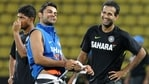 Irfan Pathan (R) and a young Virat Kohli in 2012. (Getty Images)