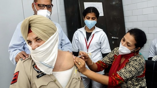 From around 2,000 active Covid-19 cases in February, Punjab has now jumped to around 24,000 active cases.(PTI)