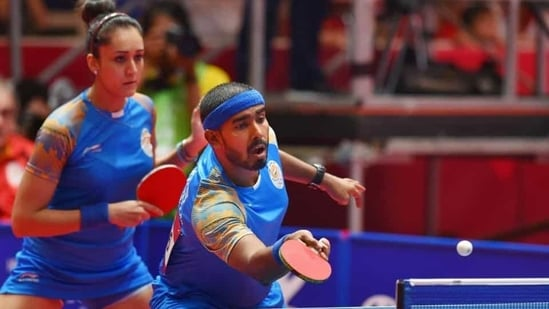 File Photo of the pair of Sharath Kamal & Manika Batra (HT)