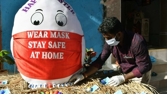 The municipal corporation made it mandatory to wear masks in public places last year. A fine of <span class='webrupee'>₹</span>200 is levied in case of non-adherence. (ANI representative image)