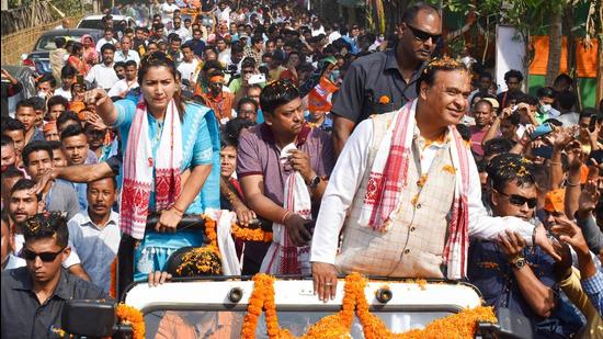BJP leader Himanta Biswa Sarma was barred from making any public statement or speech by the election commission on Friday(PTI)