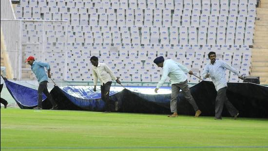 The overnight torrential downpour had rendered the cricket stadium at Guwahati unsuitable for the game, much to the disappointment of fans who had turned up for the match. (Representative Photo/HT File)