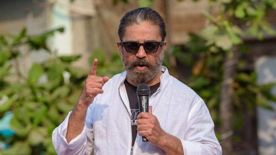 Makkal Needhi Maiam (MNM) president Kamal Haasan has been actively campaigning in the Coimbatore South constituency, where he is contesting.(PTI)