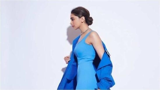 Deepika Padukone looks absolutely breathtaking in monotone attire(Instagram/ deepikapadukone)