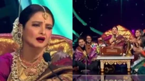 Rekha appears on Indian Idol 12.