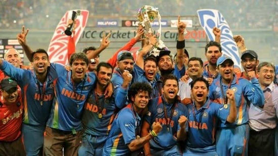 File image of Indian cricket team celebrating 2011 World Cup win.(Twitter/Cricket World cup)