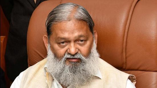 Haryana home minister Anil Vij.