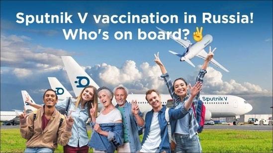 Sputnik V's new program may allow travel to Russia for Covid-19 vaccine tourism(Twitter/sputnikvaccine)