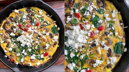 Recipe: Bookmark this Feta and Spinach Frittata for prettiest Easter brunch ever(Instagram/choosing_balance)