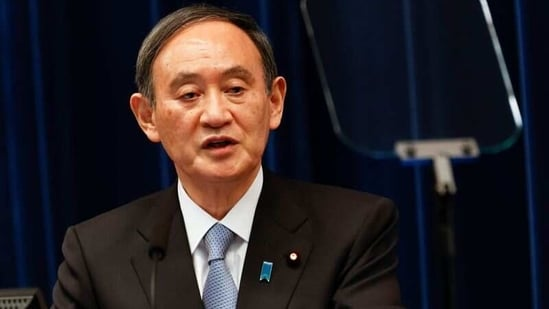 """""""It doesn't matter specifically where, we will act without hesitation if needed,"""" Japan's Prime Minister Yoshihide Suga said.(Reuters)"""