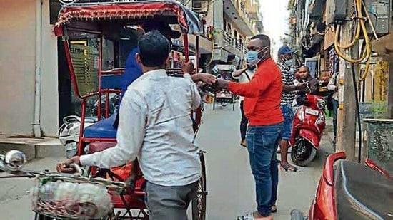 Hundreds of African nationals have moved to Krishna Puri in west Delhi's Tilak Nagar.(HT photo)
