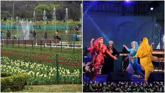 Tulip Garden in Srinagar reverberates with music as six-day festival begins(Twitter/ JandKTourism)