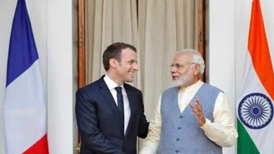 On December 7, French President Macron had called Prime Minister Modi and both leaders discussed several issues including digital and strategic autonomy, deepening of defence cooperation, Indo-Pacific, and the security environment in Asia and West Asia.(Reuters file photo)