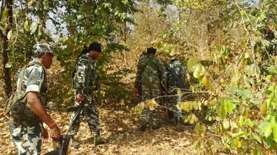 The encounter between Maoists and Chhattisgarh Police took place in the jungles of Abujhmad in Naryanpur district of Bastar region on Saturday.(HT FILE PHOTO)