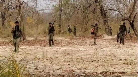 Search was on for 18 security personnel who went missing since the Bastar encounter on Saturday. 17 bodies were found on Sunday.(ANI)