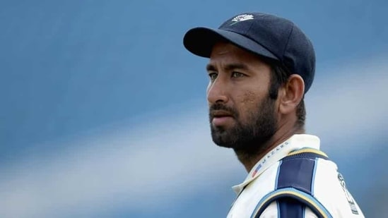 Cheteshwar Pujara of Yorkshire during day three of the LV County Championship Division One match between Yorkshire and Warwickshire at Headingley.(Getty Images)