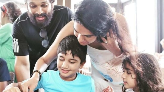 Allu Arjun and his family spent Ayaan's birthday in the Maldives.