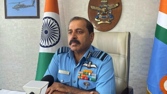 Air Chief Marshal RKS Bhadauria also urged the industry to work on developing various military applications of AI. (ANI Photo)