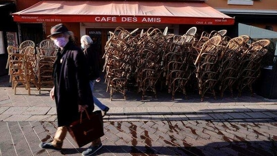 French restaurants have been closed since October to slow the spread of the coronavirus virus.(Reuters)