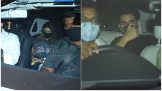 Shweta Bachchan Nanda and Ibrahim Ali Khan on their way to Karan Johar's home.(Varinder Chawla)