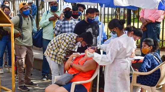 With 52,847 patients cured of Covid-19, recoveries have risen to 11,682,136 and the recovery rate stands at 92.79 per cent, the data showed.(PTI Photo )