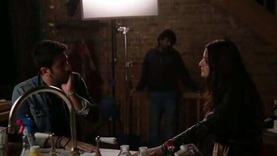 Ranbir Kapoor and Anushka Sharma on the set of Ae Dil Hai Mushkil.