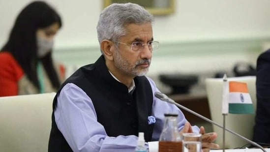 Indian Foreign Minister Subrahmanyam Jaishankar attends a meeting with his Russian counterpart Sergei Lavrov in New Delhi, India, April 6, 2021. (Reuters)