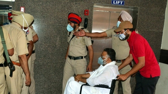 """The BJP-run Uttar Pradesh government accused the Congress government in Punjab of """"shielding"""" Ansari by not letting the state take custody.(Keshav Singh/HT Photo)"""