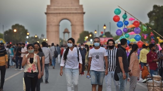 Delhi is among the 11 states and Union territories displaying an upward trajectory in daily Covid-19 cases. (Photo by Raj K Raj / Hindustan Times)